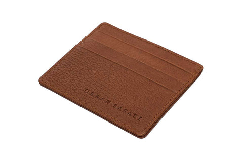 Tan Landscape Leather Card Holder
