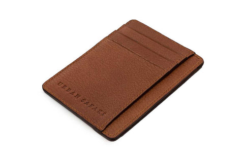 Tan Portrait Leather Cardholder