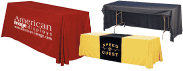 printed trade show table cover