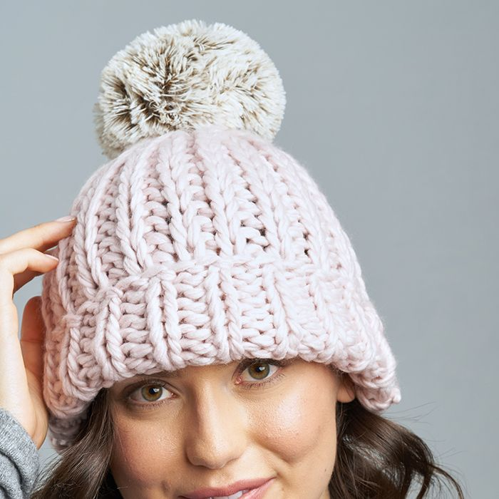 Cabin Hat with Pom