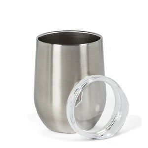 Insulated Wine Tumbler - Silver
