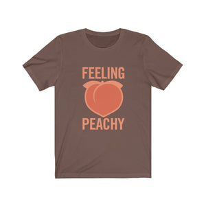 """FEELING PEACHY"" Unisex Jersey Short Sleeve Tee"
