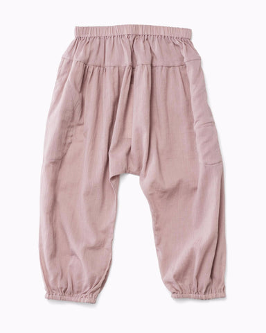 Big Easy Harem Pant in crinkle cotton bitterpink