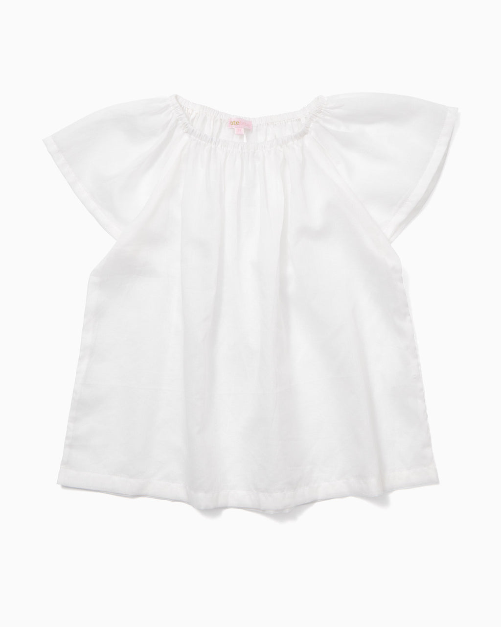 Butterfly sleeve top in the finest white cotton - printebebe.com