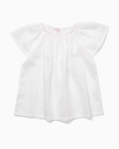 Butterfly sleeve top in the finest white cotton
