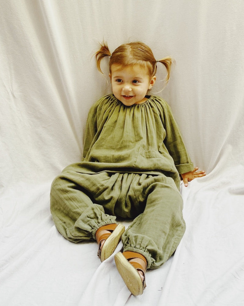 Super Sloucho Pant in moonbean super soft double voille