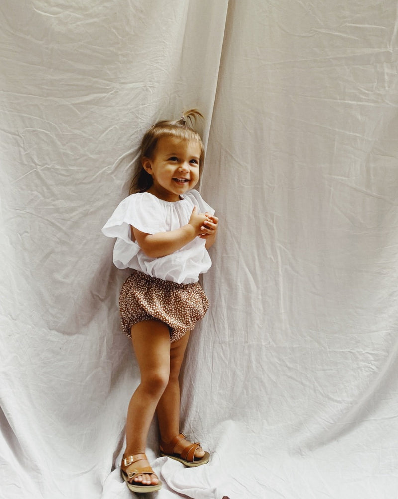 Classic Bloomer in Toffee Bird Print superfine cotton - printebebe.com