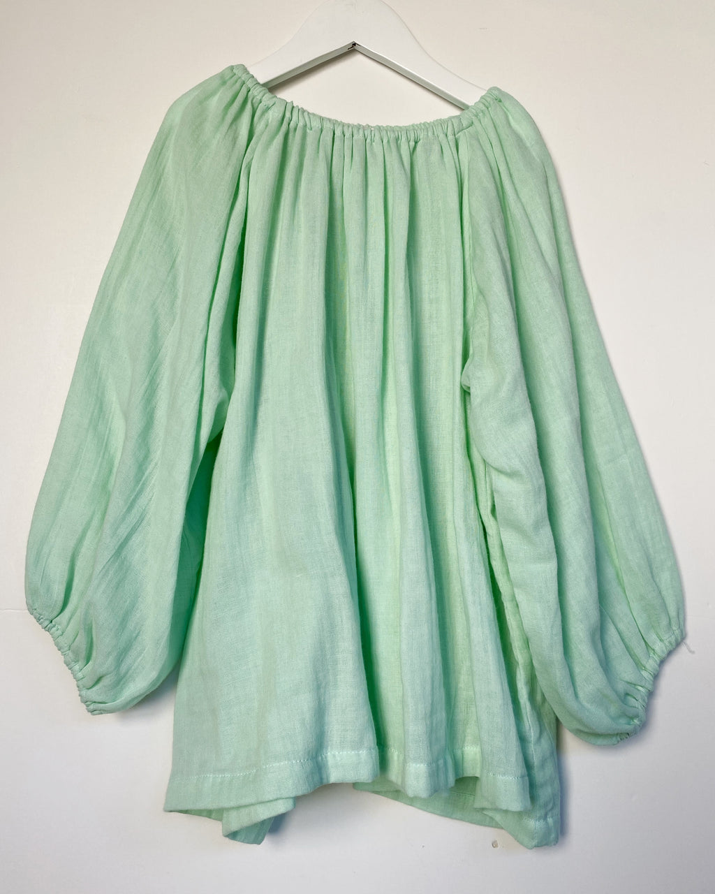 The Puff Top in Mint super soft double voille - printebebe.com