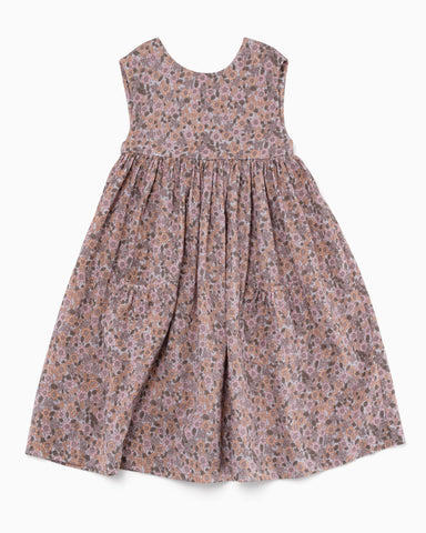 Anywhere Dress in dove posey double cotton voille