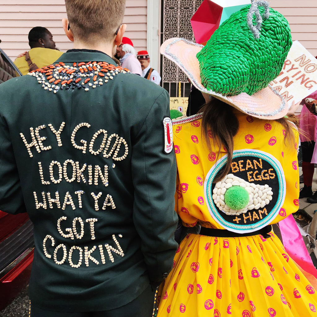 Krewe of Red Beans: Bean Eggs & Ham Costume