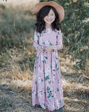 Ashley Long Sleeve Maxi Dress- Mauve Floral