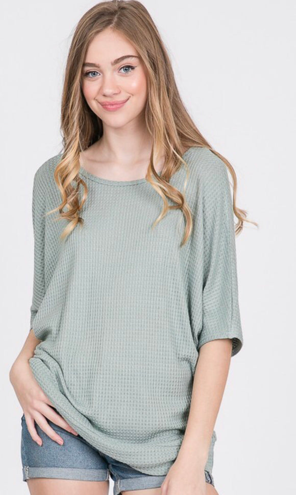 Sage ladies top