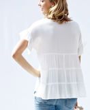 White short sleeve Top
