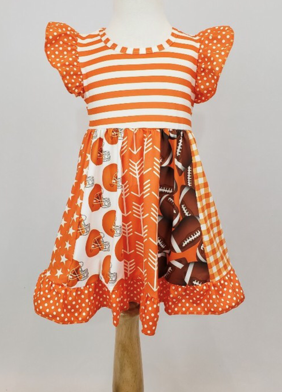 Orange/White Football Dress