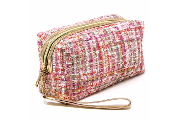 Tweed Cosmetic Bag