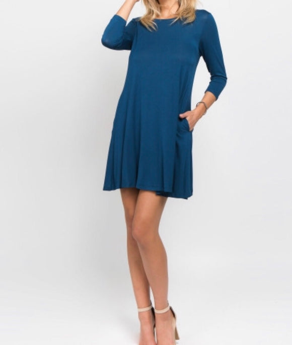Teal Blue Lightweight Dress