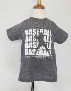 Grey boys Baseball Tshirt