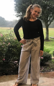 Palazzo Pants-Gray & White Stripe, girls and tween clothes sizes
