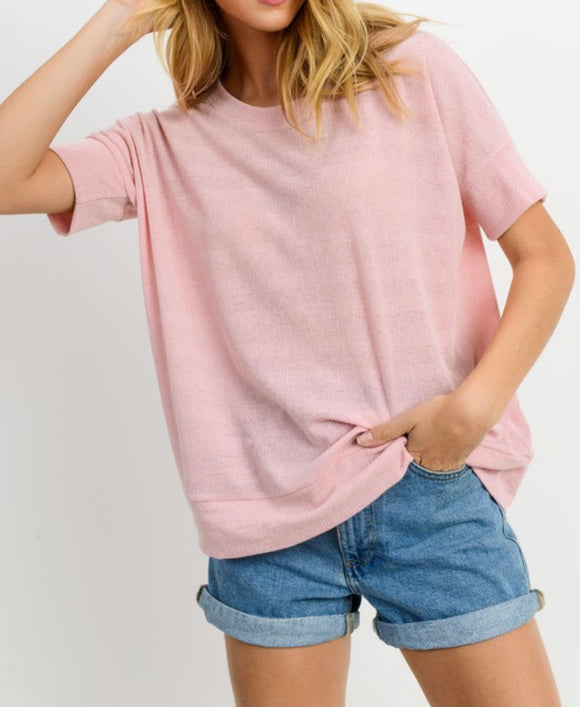 Short Sleeve Pink Top