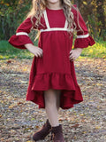 Ruby Red High/Low Girls Dress