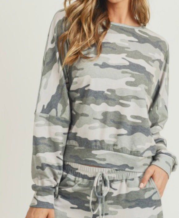 Camo Relaxed fit Top