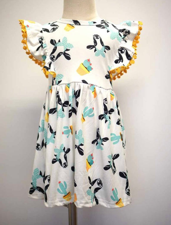 Flutter Dress w/Cows