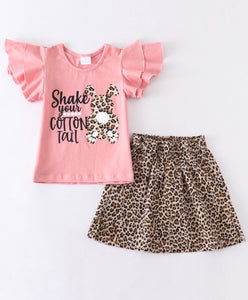2pc Easter Top w/Leopard Skirt