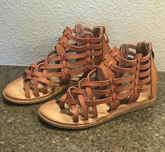 Caged Low Heel Sandal-Kids