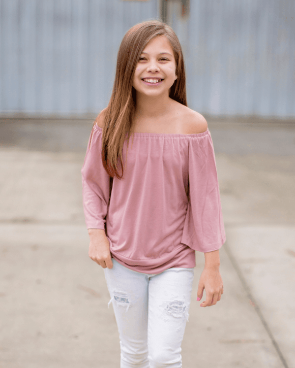 Autumn Drape Top-Mauve
