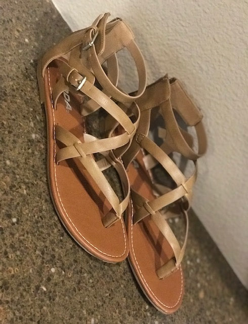 Taupe Sandal- -Ladies