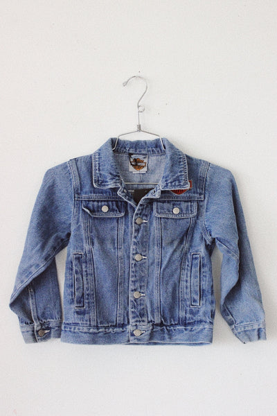 Kid's Harley Davidson Denim Jacket by Luna B Vintage