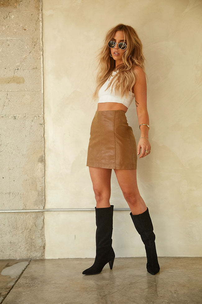 Modern Femme Vegan Suede Mini Skirt by Free People