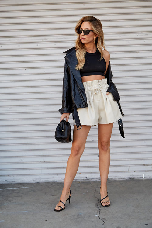 Downtown Girl Leather Shorts