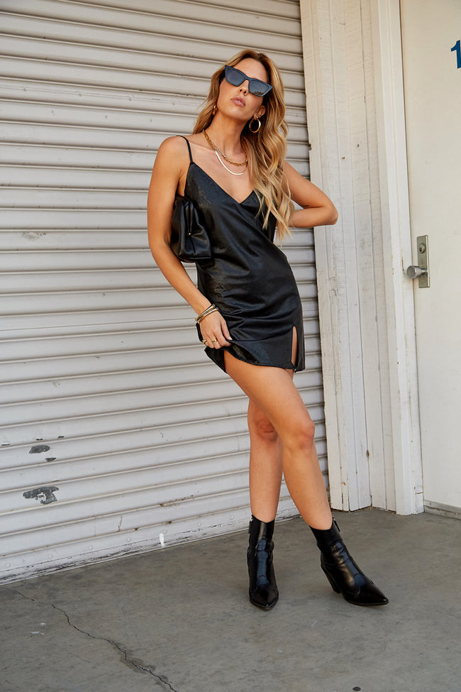 Fearless Leather Dress - FINAL SALE