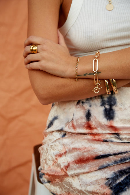 Leaf Chain Gypsy Cuff by Sunahara - FINAL SALE