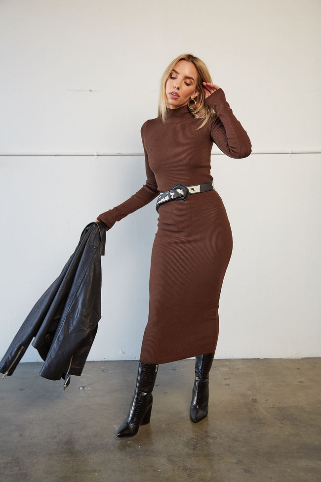 Espresso Midi Dress - FINAL SALE