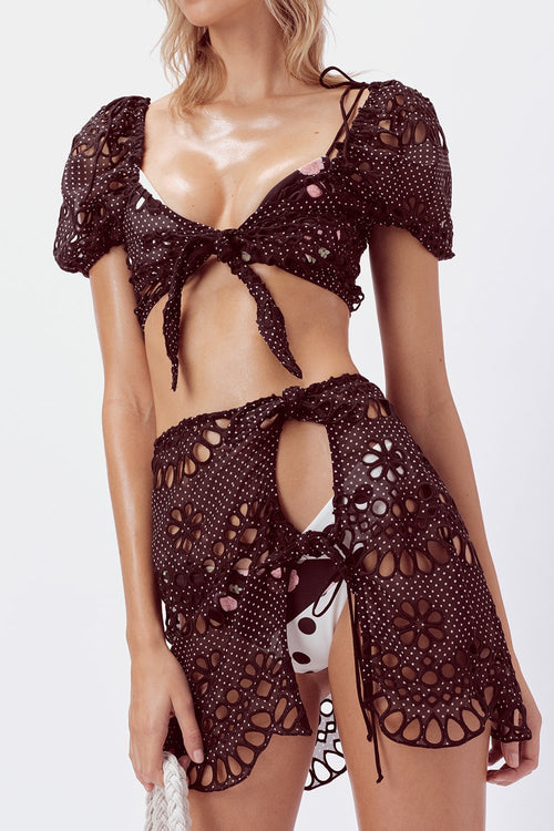 Cookies N Cream Tie Front Top by For Love & Lemons - FINAL SALE