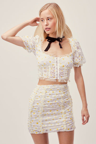 Brulee Daisy Crop Top by For Love & Lemons - FINAL SALE