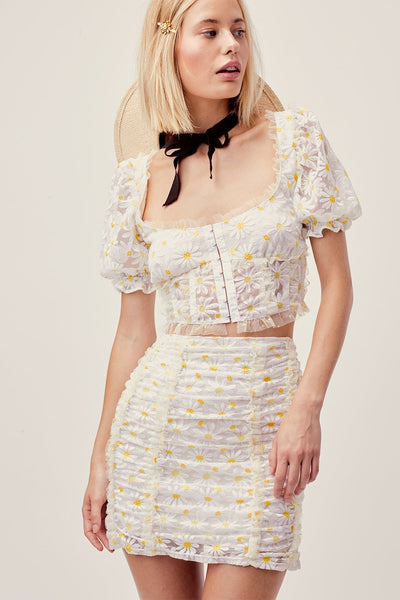 Brulee Daisy Crop Top by For Love & Lemons