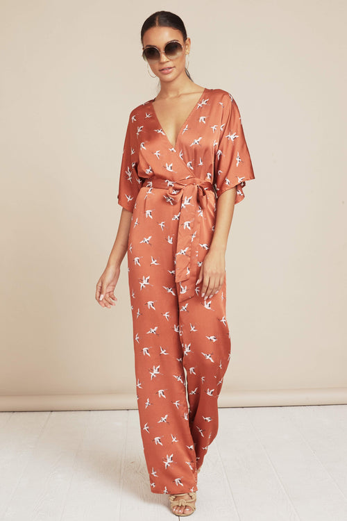 Ruffle My Feathers Jumpsuit - FINAL SALE