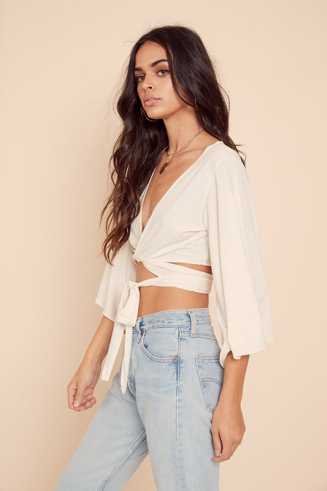Brooklyn Wrap Top by East N West Label - FINAL SALE
