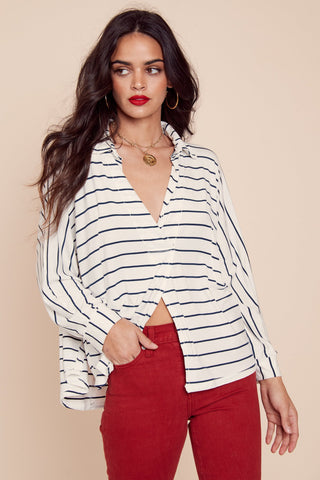We The Free Can't Fool Me Striped Tee by Free People