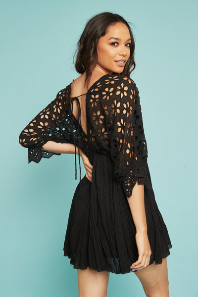 Bella Note Eyelet Dress by Free People - FINAL SALE