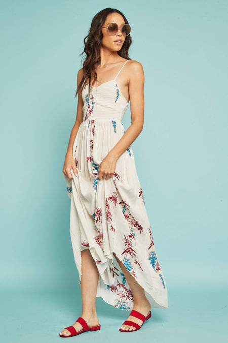 e97d5751c079 ... Beau Smocked Printed Slip by Free People - FINAL SALE ...