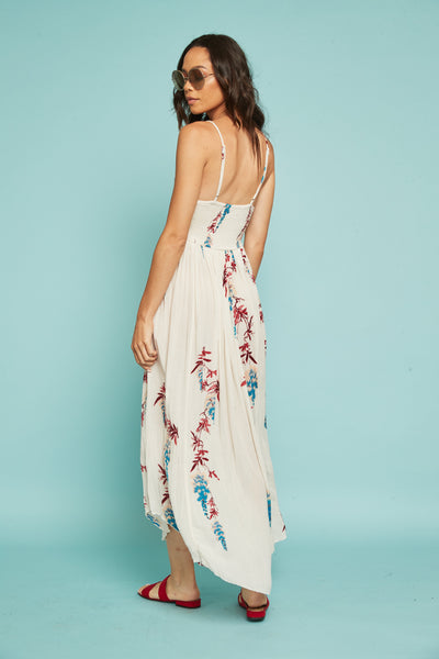 1c332d4e4a532 Beau Smocked Printed Slip by Free People - FINAL SALE – SHOPLUNAB