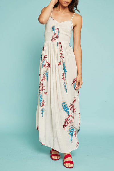 Beau Smocked Printed Slip by Free People - FINAL SALE