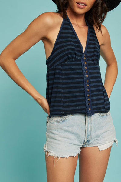 Mylo Stripe Tank by Free People - FINAL SALE
