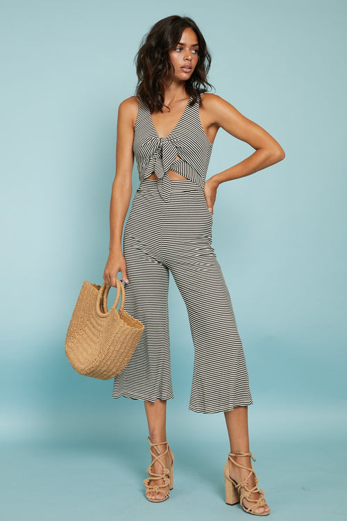 Linear Cropped Jumpsuit - FINAL SALE