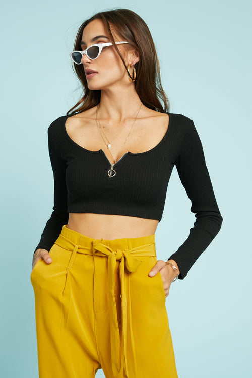 Make It Zippy Crop Top