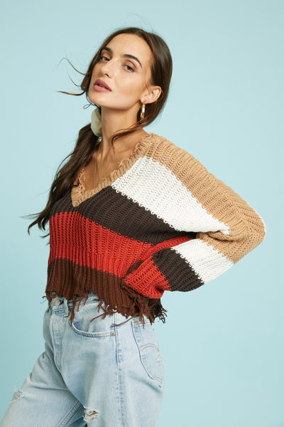 All Torn Up Sweater - FINAL SALE